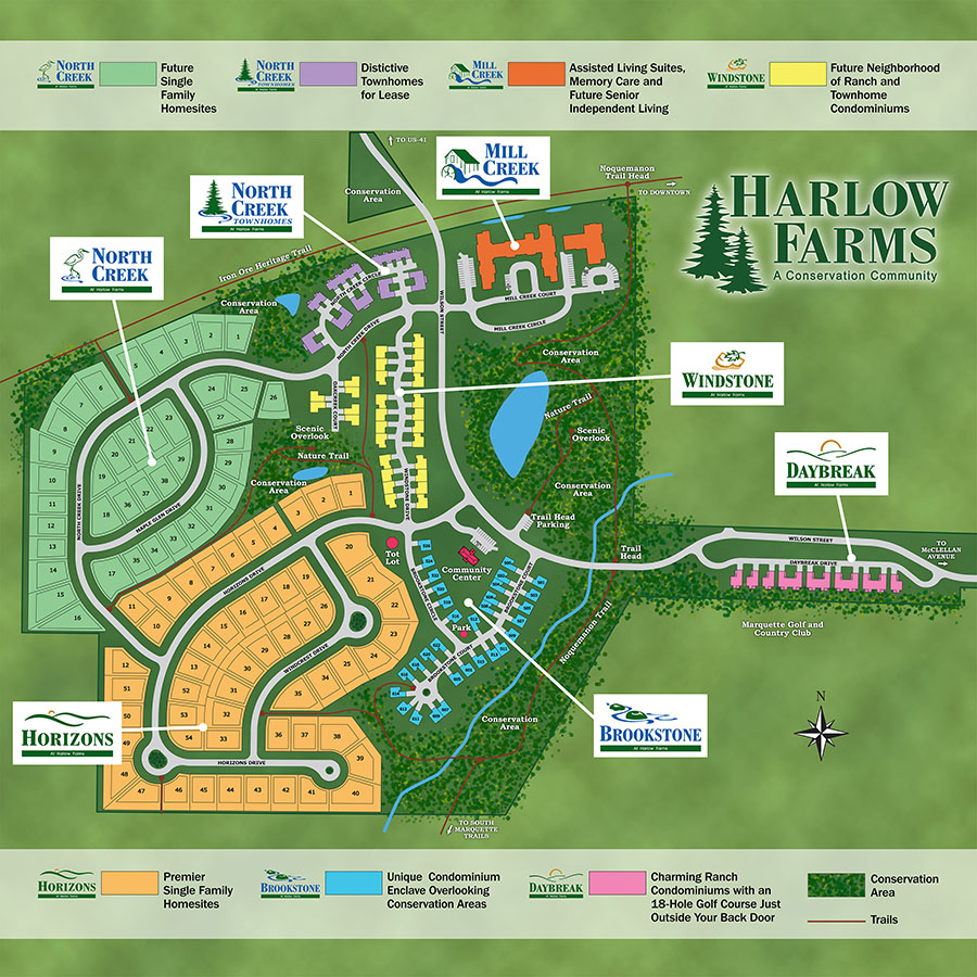 Harlow Farms map